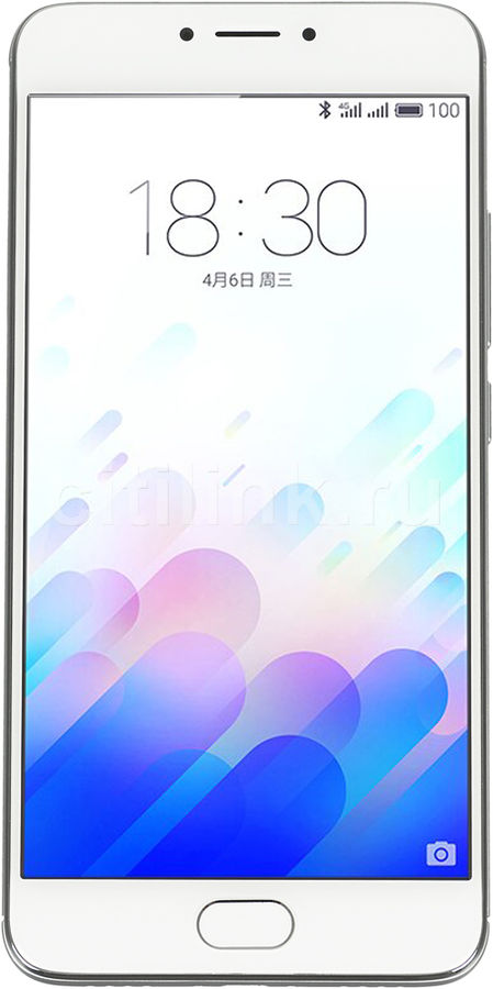 Смартфон MEIZU M3 Note 32Gb,  L681H,  серебристый/белый