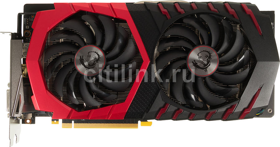 Видеокарта MSI GeForce GTX 1060,  GTX 1060 GAMING X 6G,  6Гб, GDDR5, OC,  Ret