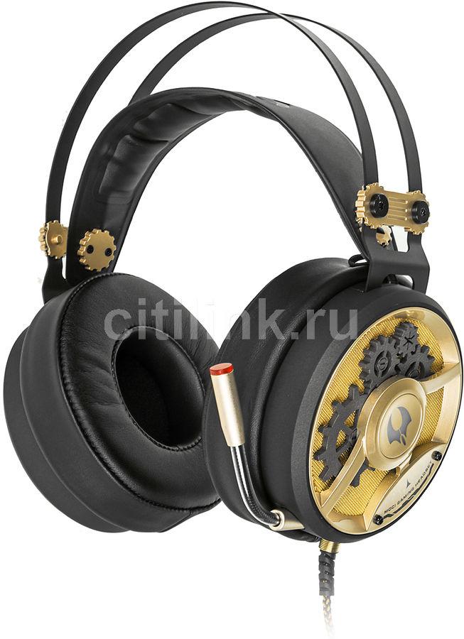 Наушники с микрофоном A4 Bloody M660,  мониторы, черный  / бронзовый [a4tech m660]