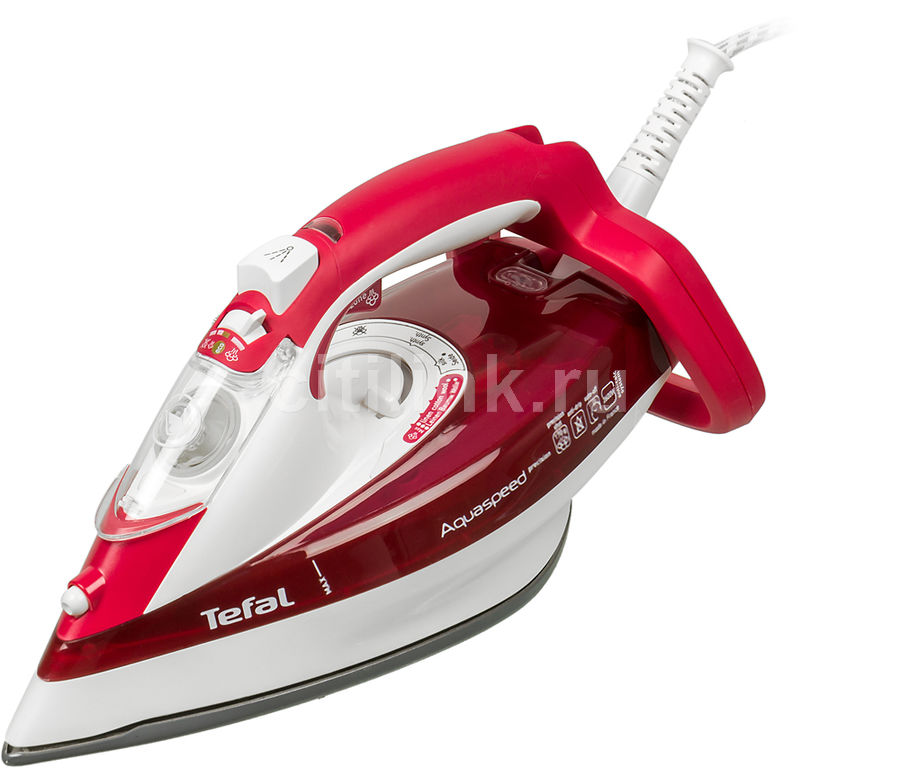 Утюг TEFAL FV5535E0,  2600Вт,  красный/ белый [1830005887]