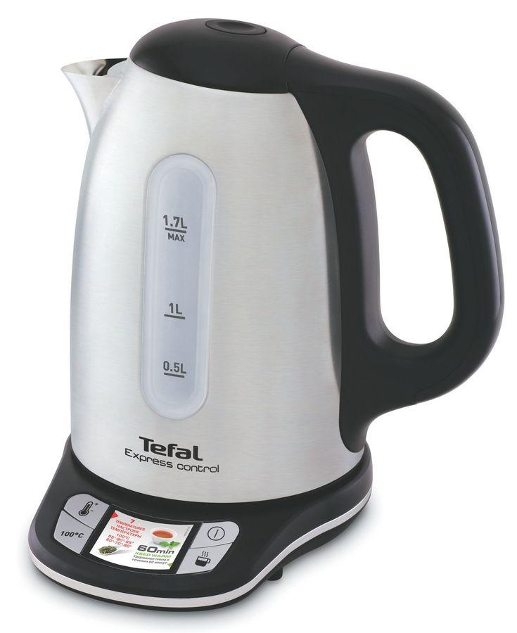 Чайник электрический TEFAL KI240D, белый и черный