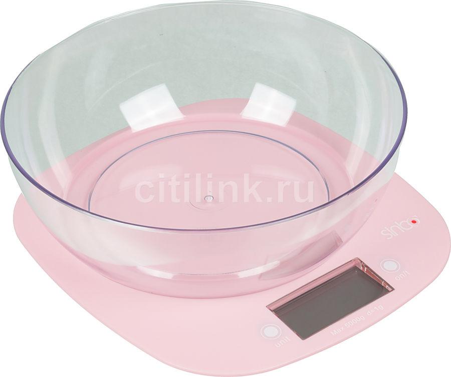 Весы кухонные SINBO SKS 4522,  розовый