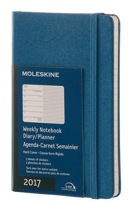 Еженедельник Moleskine CLASSIC WKNT POCKET 90x140мм 144стр. фиксирующая резинка синий стальной