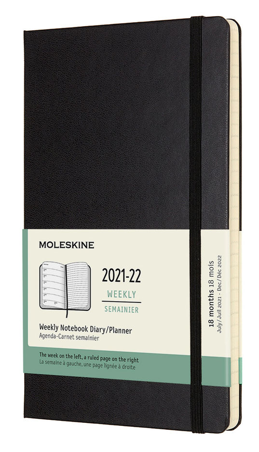 Еженедельник MOLESKINE Academic WKNT,  датированный на 18 месяцев,  208стр.,  черный [dhb18wn3]