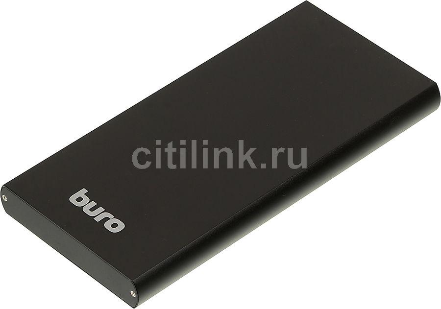 Внешний аккумулятор (Power Bank) BURO RA-12000-AL-BK,  12000мAч,  черный