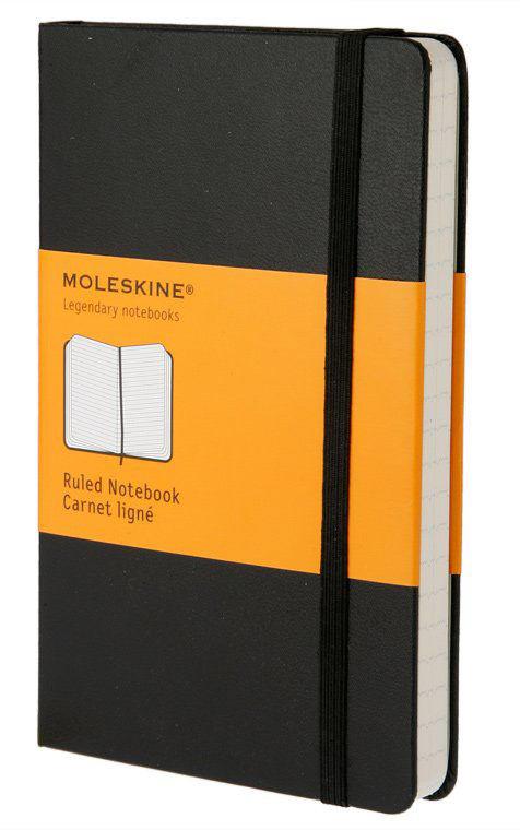 Блокнот Moleskine CLASSIC Pocket 90x140мм 192стр. линейка твердая обложка черный
