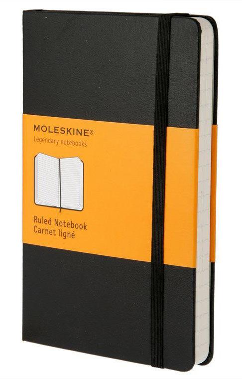 Блокнот Moleskine CLASSIC Large 130х210мм 240стр. линейка твердая обложка черный