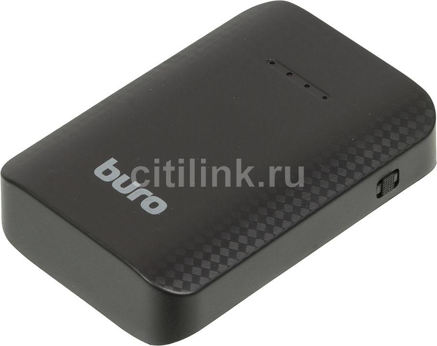 Внешний аккумулятор (Power Bank) BURO RC-7500,  7500мAч,  черный