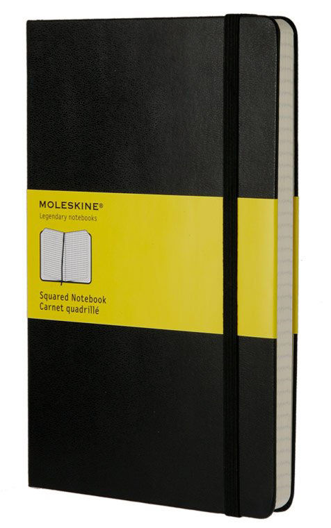 Блокнот Moleskine CLASSIC Large 130х210мм 240стр. клетка твердая обложка черный