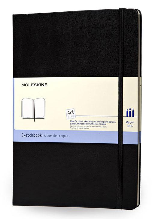 Блокнот для рисования Moleskine CLASSIC SKETCHBOOK 90x140мм 80стр. фиксирующая резинка черный