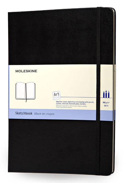 Блокнот для рисования Moleskine CLASSIC SKETCHBOOK Large 130х210мм 104стр. твердая обложка черный [artqp063]