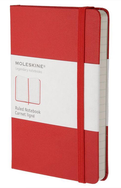 Блокнот Moleskine CLASSIC Pocket 90x140мм 192стр. линейка твердая обложка красный