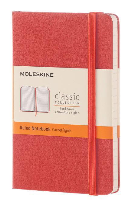 Блокнот Moleskine CLASSIC Pocket 90x140мм 192стр. линейка твердая обложка оранжевый