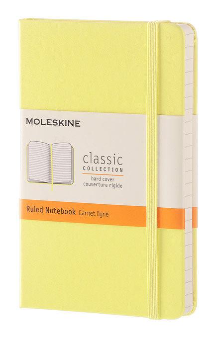 Блокнот Moleskine CLASSIC Pocket 90x140мм 192стр. линейка твердая обложка желтый цитрон