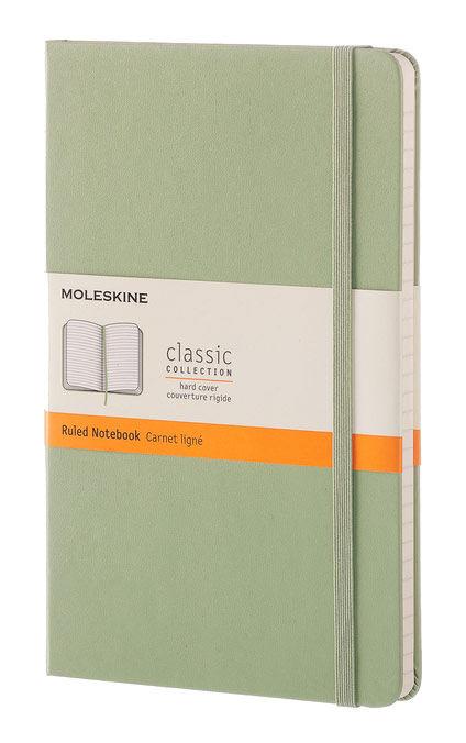 Блокнот Moleskine CLASSIC Large 130х210мм 240стр. линейка твердая обложка зеленая ива