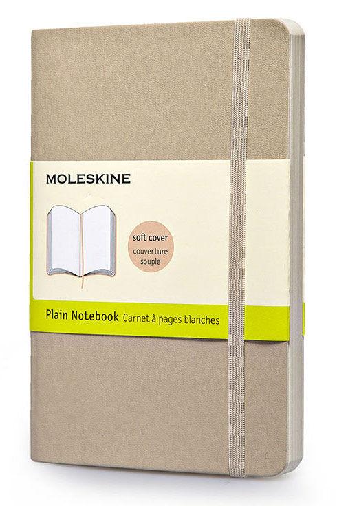 Блокнот Moleskine CLASSIC SOFT 130х210мм 192стр. нелинованный мягкая обложка фиксирующая резинка беж [qp618g4]