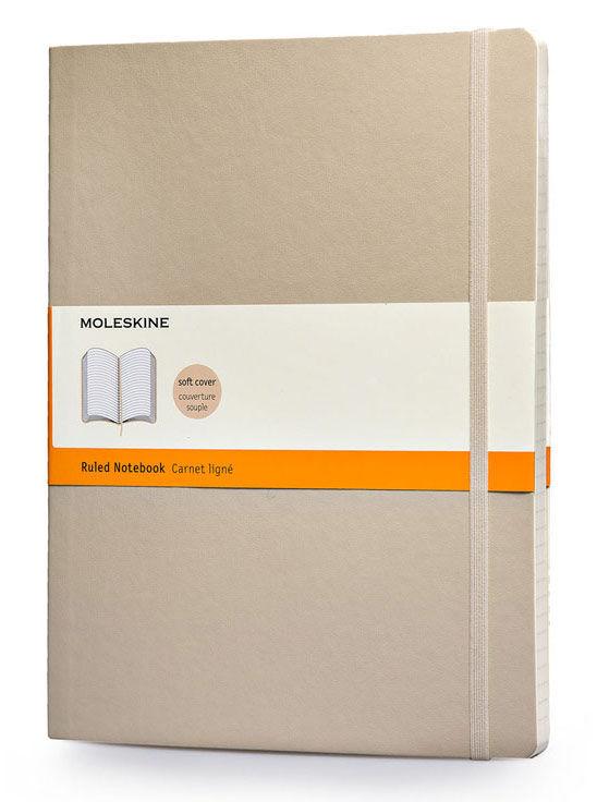Блокнот Moleskine CLASSIC SOFT XLarge 190х250мм 192стр. линейка мягкая обложка бежевый