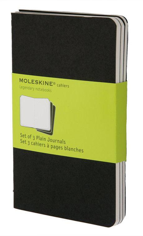 Блокнот Moleskine CAHIER JOURNAL POCKET 90x140мм обложка картон 64стр. нелинованный черный (3шт)