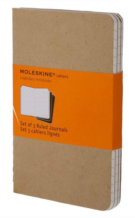 Блокнот Moleskine CAHIER JOURNAL POCKET 90x140мм обложка картон 64стр. линейка бежевый (3шт)
