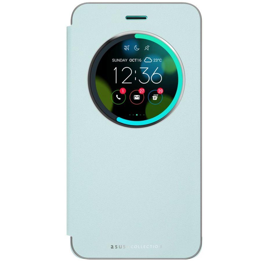 Чехол (флип-кейс) ASUS View Flip Cover, для Asus ZenFone 3 ZE552KL, голубой [90ac0160-bcv012]