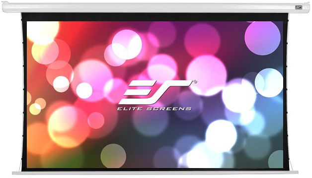 Экран ELITE SCREENS Tab-Tension ELECTRIC125XHT Spectrum, 276.6х155.7 см, 16:9, настенно-потолочный affordable 1080p cinema projector screen acoustically transparent fabric 135inch 16 to 9 fixed frame screens
