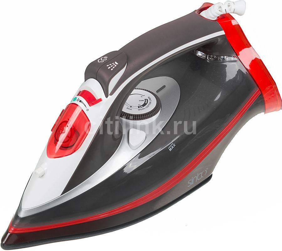 Утюг SINBO SSI 2892R,  3000Вт,  черный/ красный