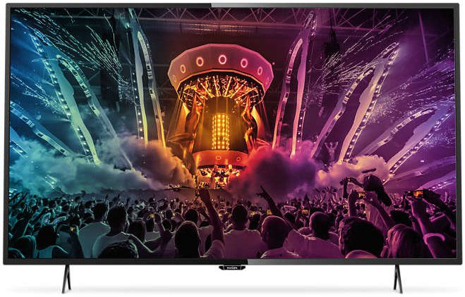 "LED телевизор PHILIPS 49PUT6101/60  ""R"", 49"", Ultra HD 4K (2160p),  черный"