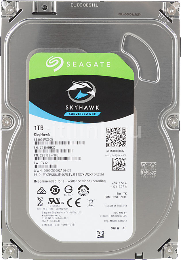 Жесткий диск Seagate Original SATA-III 1Tb ST1000VX005 Video Skyhawk 64Mb 3.5