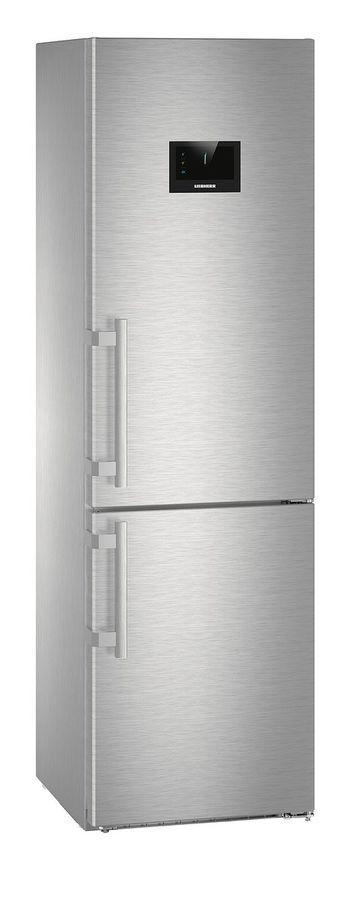Холодильник LIEBHERR CBNPes 4858,  двухкамерный, нержавеющая сталь