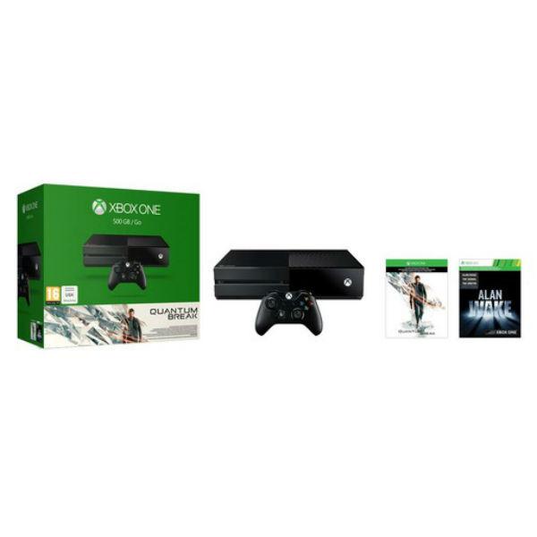 Игровая консоль MICROSOFT Xbox One с 500 ГБ памяти, играми Quantum Break, Alan Wake,  5C7-00233, черный