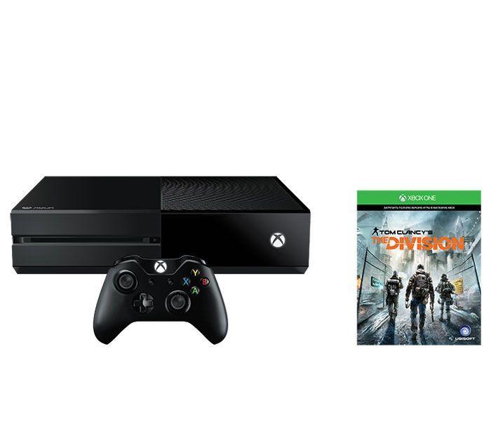 Игровая консоль MICROSOFT Xbox One с 1 ТБ памяти, игрой Tom Clancy`s The Division,  KF7-00139, черный