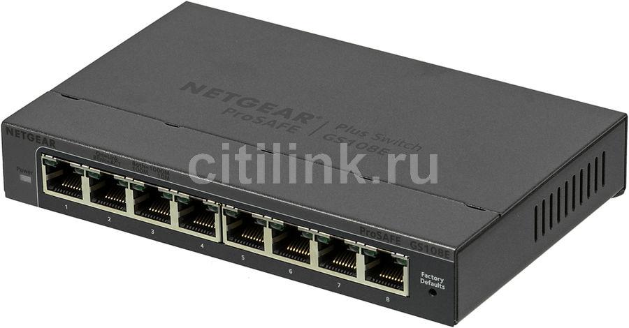 Коммутатор NETGEAR ProSafe GS108E-300PES, GS108E-300PES