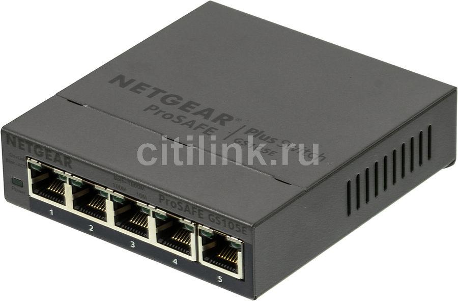Коммутатор NETGEAR GS105E-200PES, GS105E-200PES