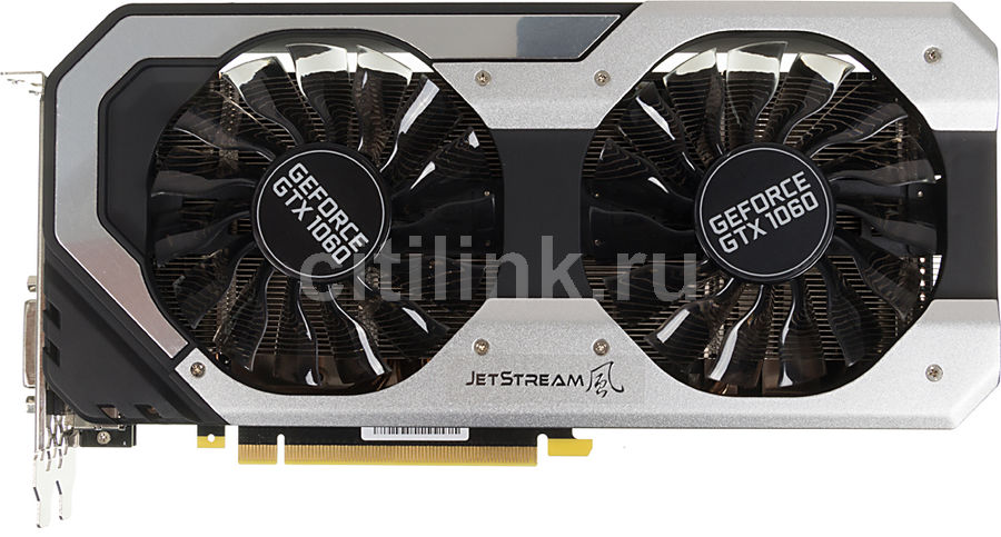 Видеокарта PALIT nVidia GeForce GTX 1060 , PA-GTX1060 JETSTREAM 6G, 6Гб, GDDR5, Ret [ne51060015j9-1060j] видеокарта asus dual gtx1060 o6g 6гб gddr5 oc ret