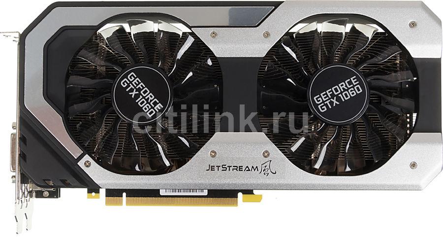 Видеокарта PALIT GeForce GTX 1060,  PA-GTX1060 JETSTREAM 6G,  6Гб, GDDR5, Ret [ne51060015j9-1060j]