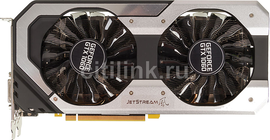 Видеокарта PALIT GeForce GTX 1060 Super JetStream,  NE51060S15J9-1060J,  6Гб, GDDR5, Ret