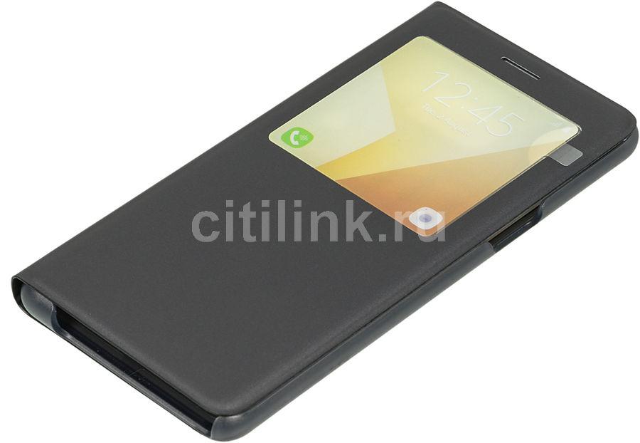 Чехол (флип-кейс) SAMSUNG S View Standing Cover, для Samsung Galaxy Note 7, черный [ef-cn930pbegru]