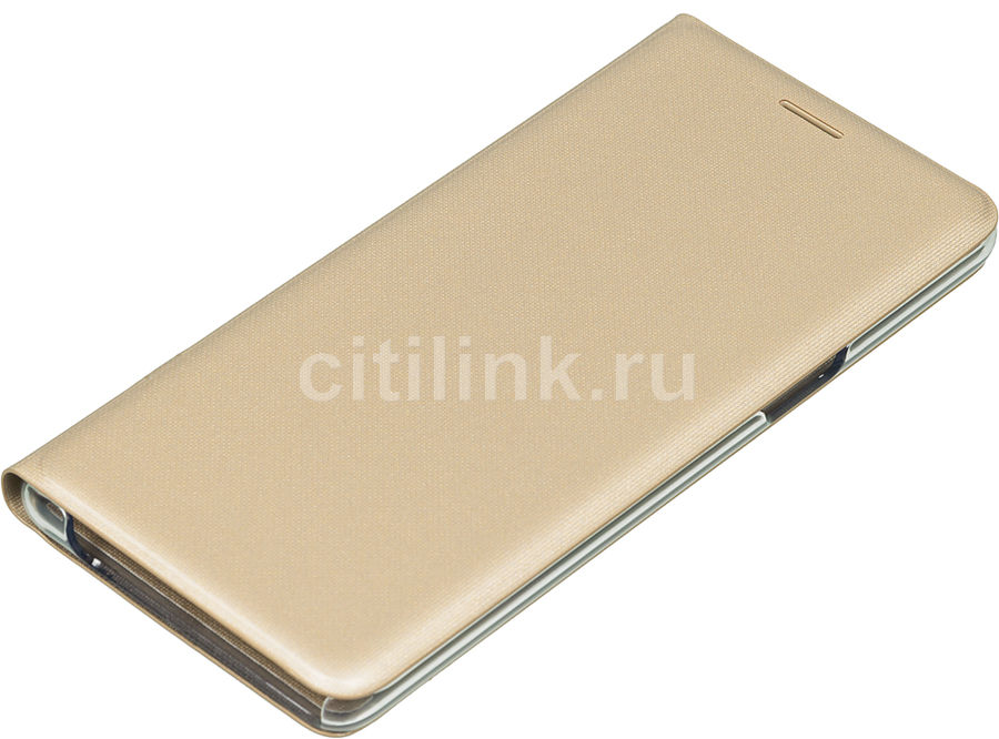 Чехол (флип-кейс) SAMSUNG LED View Cover, для Samsung Galaxy Note 7, золотистый [ef-nn930pfegru]