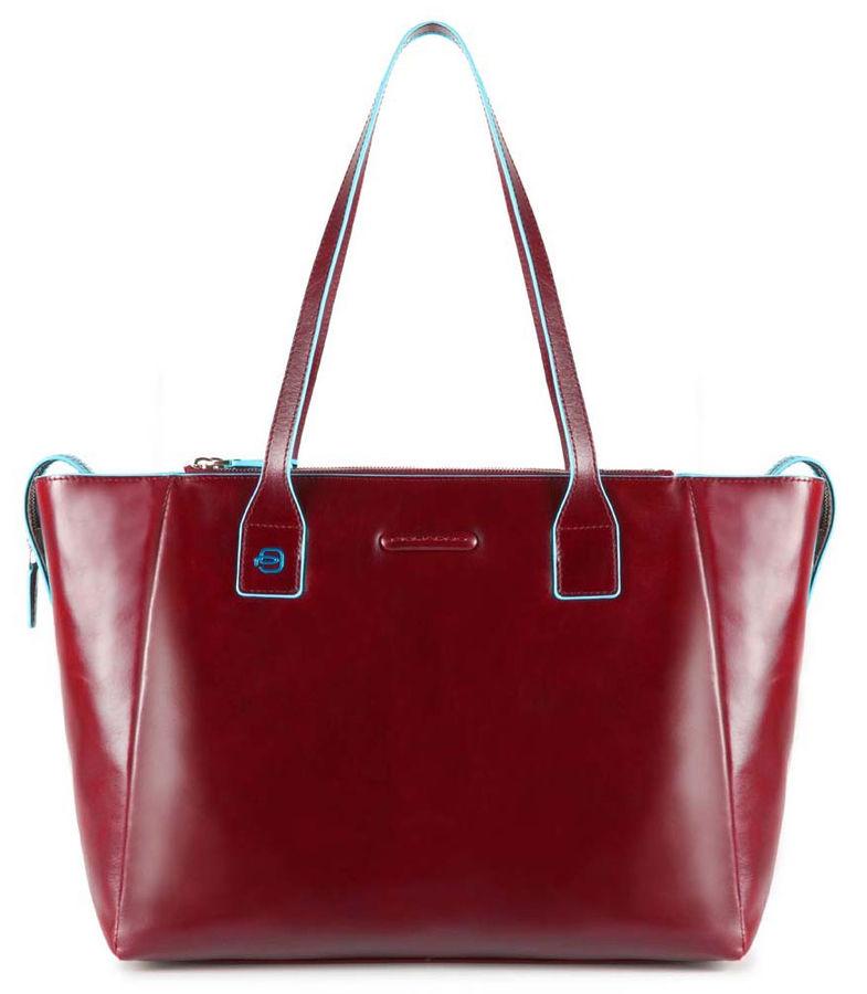 Сумка для покупок женская Piquadro Blue Square BD3883B2/R красный натур.кожа
