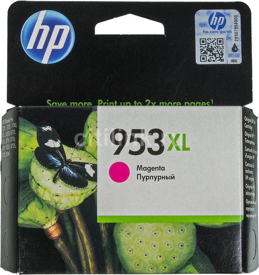 Картридж HP 953XL пурпурный [f6u17ae]
