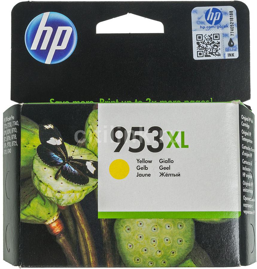 Картридж HP 953XL F6U18AE,  желтый