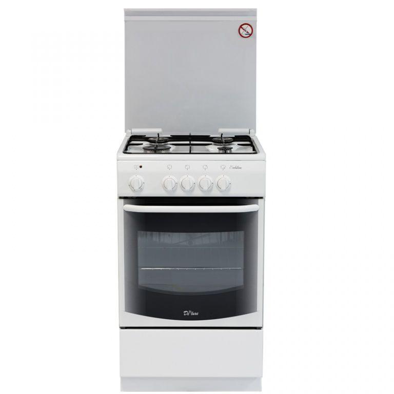 Газовая плита DE LUXE 5040.21гэ КР ЧР,  электрическая духовка,  белый