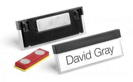 Бейдж Durable 8505-01 Select 17x67мм горизонт. магнитный черный (упак.:25шт)