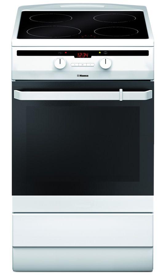 Электрическая плита HANSA FCIW53800,  стеклокерамика,  индукционная,  белый