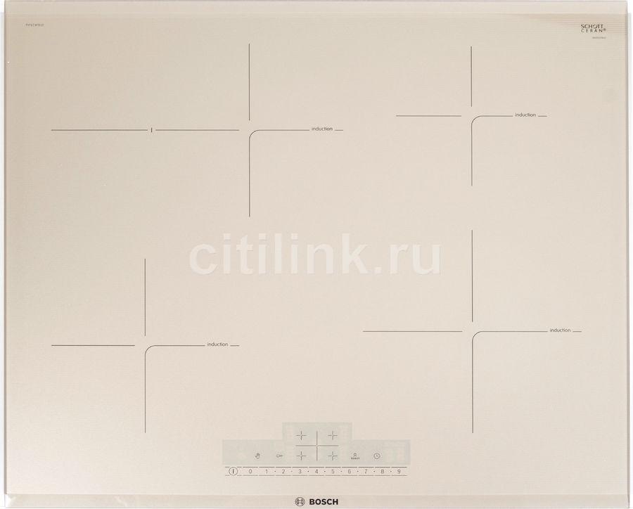 Варочная панель BOSCH PIF673FB1E,  индукционная,  независимая,  бежевый