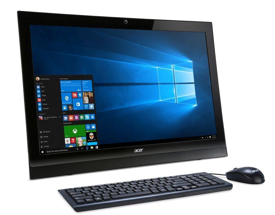 Моноблок ACER Aspire Z1-622, Intel Pentium J3710, 4Гб, 1Тб, Intel HD Graphics 405, DVD-RW, Windows 10 Home, черный [dq.b5fer.005]