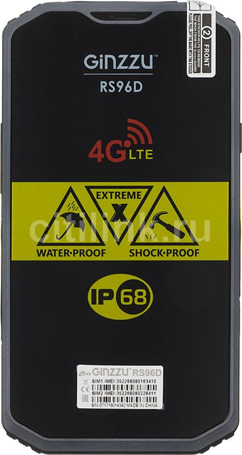 Смартфон GINZZU RS96D,  черный