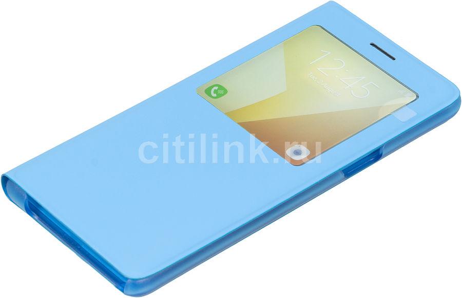 Чехол (флип-кейс) SAMSUNG S View Standing Cover, для Samsung Galaxy Note 7, синий [ef-cn930plegru]