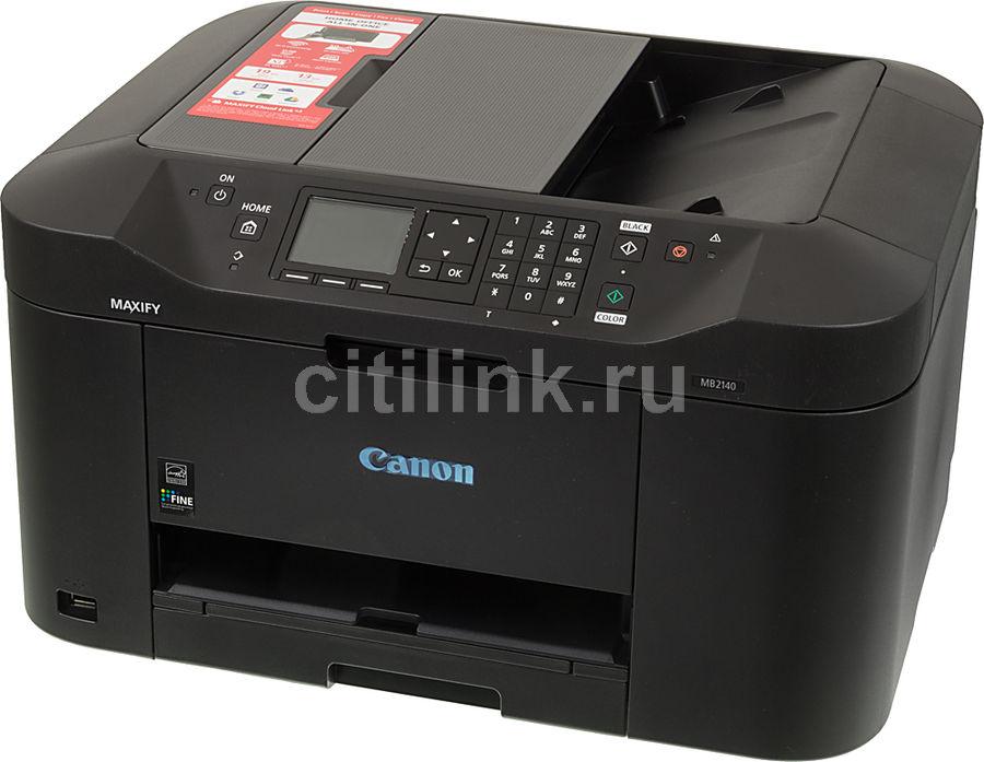 МФУ CANON Maxify MB2140, A4, цветной, струйный, черный [0959c007]