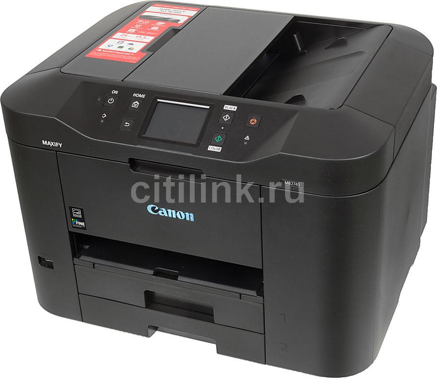 МФУ струйный CANON Maxify MB2740, A4, цветной, струйный, черный [0958c007]